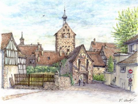 Riquewihr(リクヴィル)の門-2.jpg